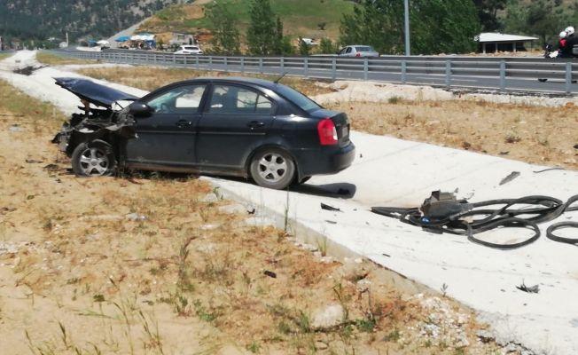 Tünel çıkışında trafik kazası: 2 yaralı