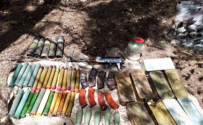 Osmaniye'de PKK'ya ait mühimmat deposu bulundu