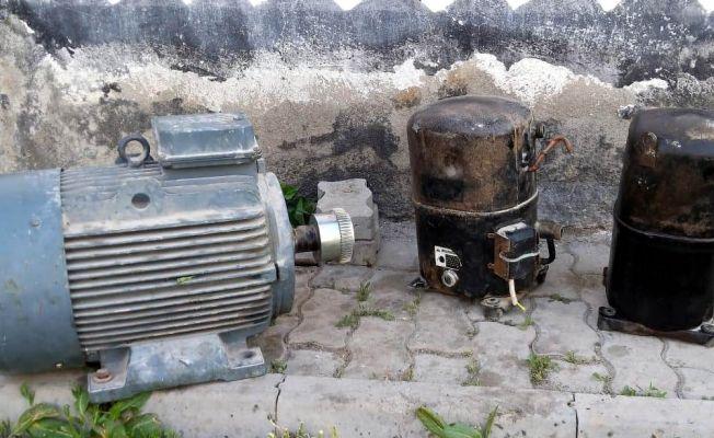 Afşin'de dinamo hırsızları yakalandı