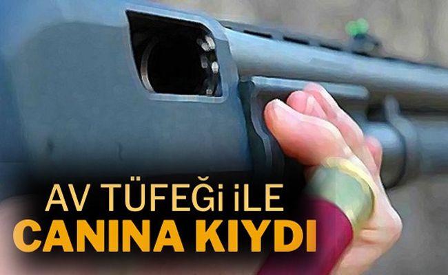 Afşin'de av tüfeği ile intihar etti