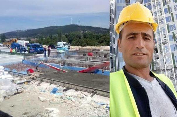 Afşinli işçi otoyol gişesi inşaatında hayatını kaybetti
