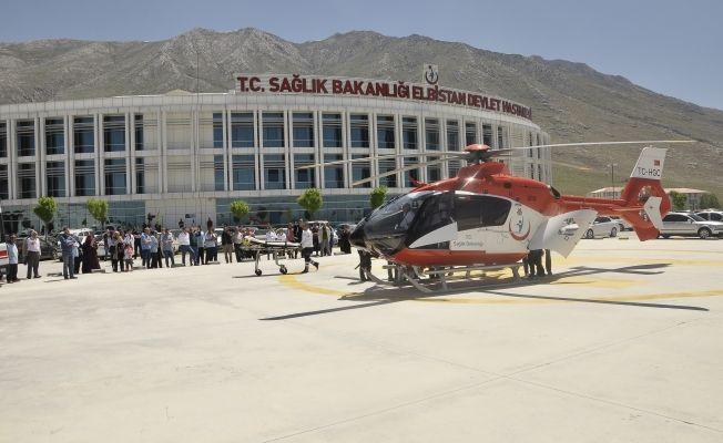 Helikopter ambulans Fatma Gül için havalandı