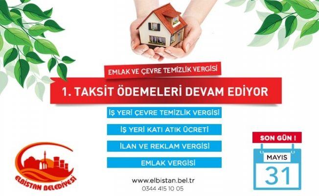 Elbistan belediyesi duyurdu! Son gün 31 Mayıs