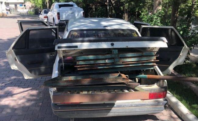 Elbistan'da DSİ'ye ait malzemeleri çalan hırsız yakalandı