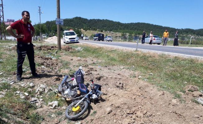 Andırın'da motorsiklet kazası: 1 yaralı