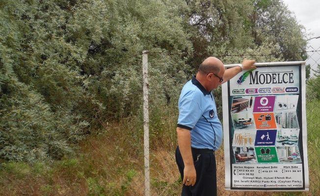 Elbistan Belediyesi izinsiz afiş asan 16 işletmeye 24 bin tl ceza yazdı
