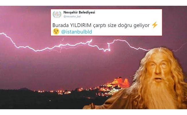 Nevşehir Belediyesi'nin tweet'i ortalığı karıştırdı! İşte olay atışma