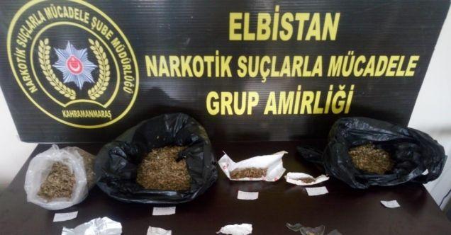 Elbistan'da uyuşturucu operasyonu: 3 gözaltı