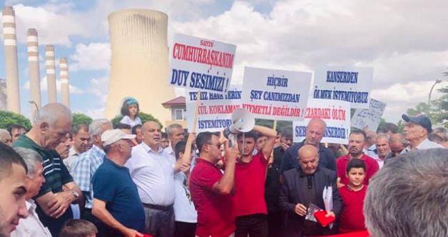 Bölge halkı eylem başlattı: Külle boğulmak istemiyoruz!