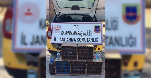 Kahramanmaraş'ta kaçak içki operasyonu: 80 şişe kaçak içki ele geçirildi