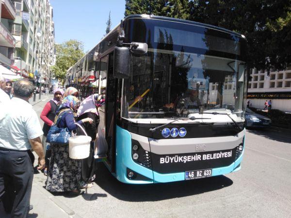 Elbistan'da Kurban Bayramı süresince belediye otobüsleri ücretsiz oldu