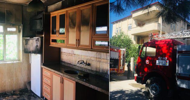 Elbistan'da buzdolabından dolayı evde çıkan yangın korkuttu