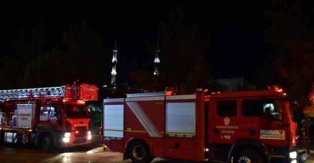 Kahramanmaraş'ta muhtarlık binasında korkutan yangın! Bina kullanılamaz hale geldi...
