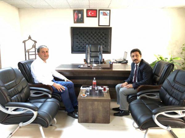 Kaymakam Demir, Büyükşehir Belediyesi Elbistan Şube Müdürlüğünü ziyaret etti