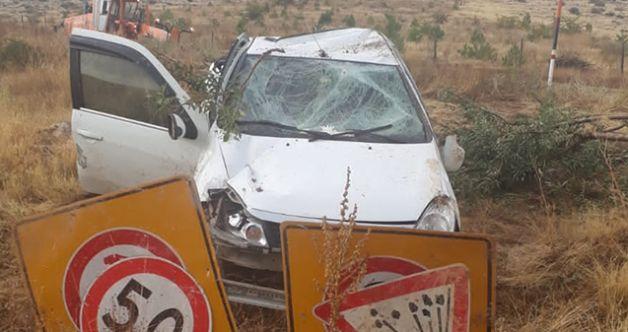 Elbistan'da otomobil takla attı: 4 yaralı