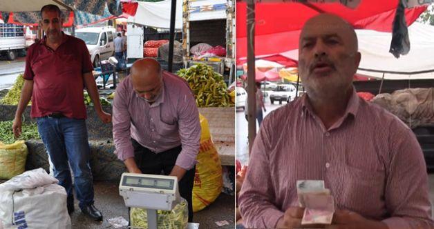Elbistan'da pazarcı bulduğu paranın sahibini arıyor