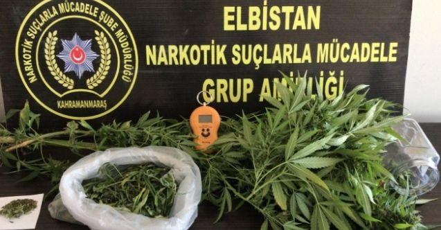 Elbistan'da evinde uyuşturucu madde yakalanan şahıs tutuklandı!