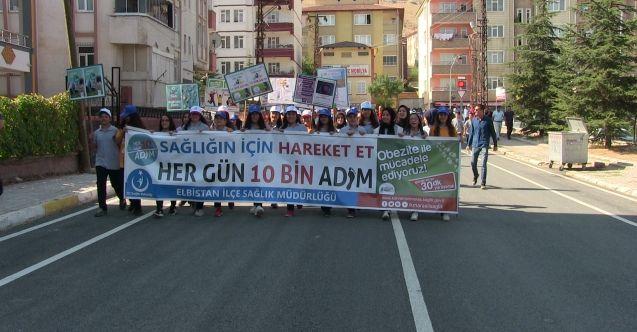 """Elbistan'da """"Dünya Yürüyüş Günü"""" etkinliği"""