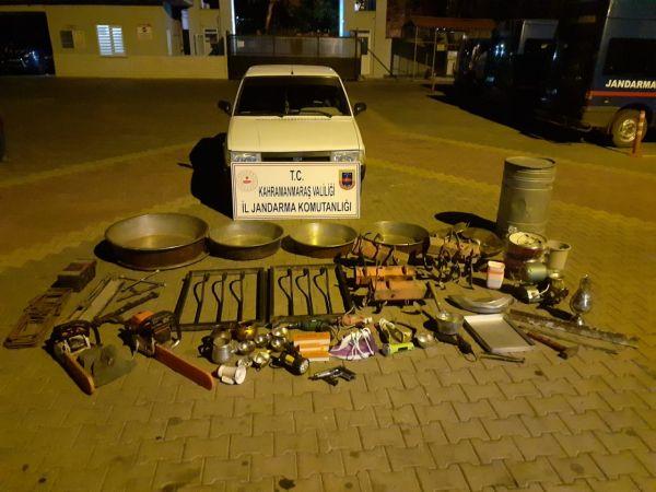 Bakır kazan hırsızları yakalandı: 2 gözaltı