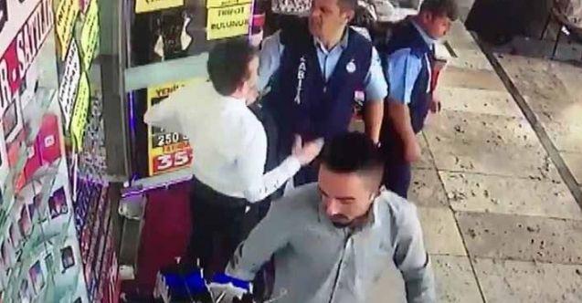 """Kahramanmaraş'ta zabıta ile esnafın """"duba"""" tartışması kameralara yansıdı"""