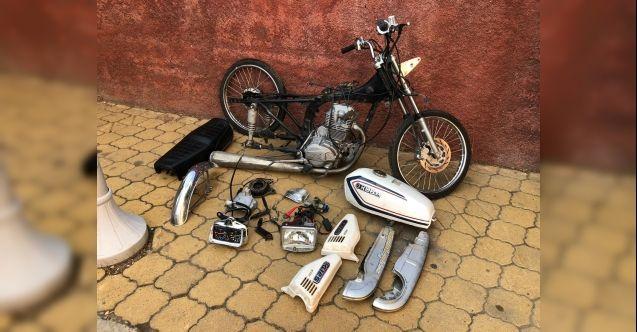 Çaldığı motosikleti parçalayan zanlı yakalandı