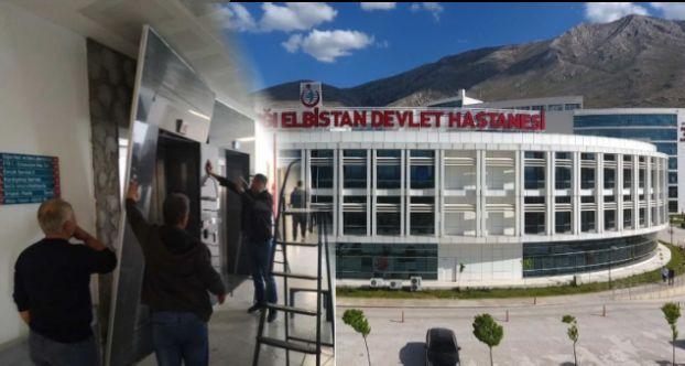 Elbistan Devlet Hastanesi'nde bir skandal daha! Asansör kaplaması düştü…