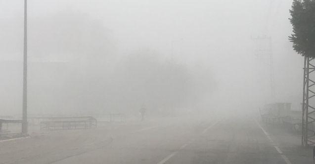 Elbistan'a sis çöktü! Kış kendini göstermeye başladı...