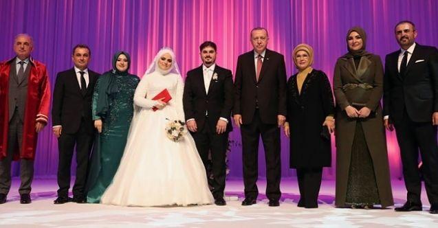 Cumhurbaşkanı Erdoğan, Mahir Ünal'ın kızının nikah şahidi oldu