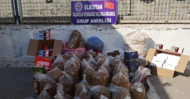 Elbistan'da 'Duman-8' operasyonu: 250 kilogram kaçak tütün ele geçirildi