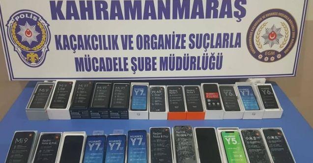 Kahramanmaraş'ta seyyar satıcı operasyonu! 90 bin TL değerinde Kaçak ve klonlanmış cep telefonu ele geçirildi...