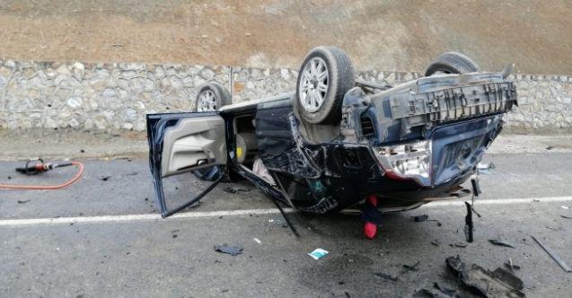 Afşin'de feci kaza! Otomobil takla attı, Ölü ve yaralı var