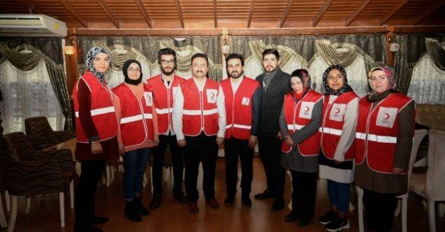 Genç Kızılay'dan Başkan Gürbüz'e ziyaret