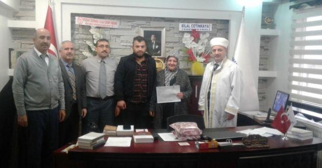 Afşin'e gelen moldovalı gelin müslüman oldu