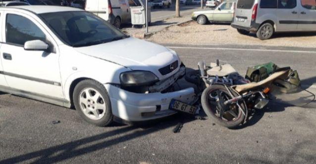 Elbistan'da otomobil ile motosiklet çarpıştı: 1 yaralı