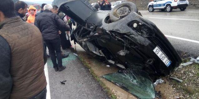 Elbistanlı avukatın otomobili takla attı: 5 yaşındaki kızı hayatını kaybetti