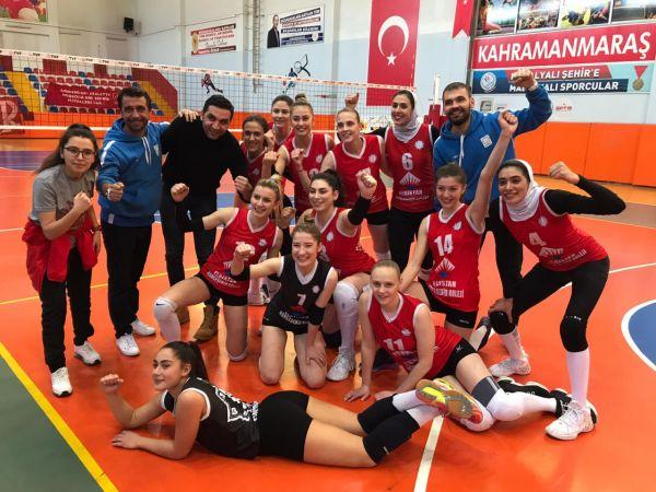 Elbistanspor Voleybol Takımı, Nevşehir B.S.K. 3-2 mağlup etti