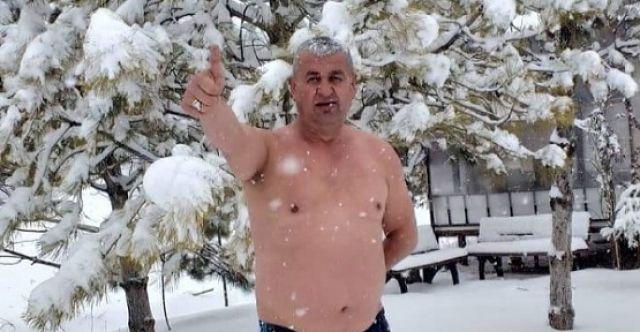 Elbistanlı vatandaş mevsimin ilk karıyla banyo yaptı