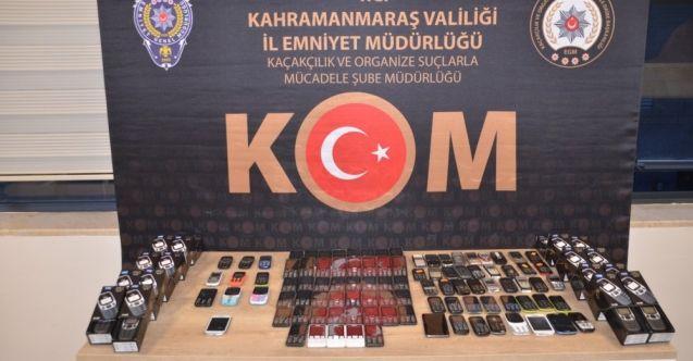 Kahramanmaraş'ta kaçak telefon operasyonu: 327 cep telefonu ele geçirildi