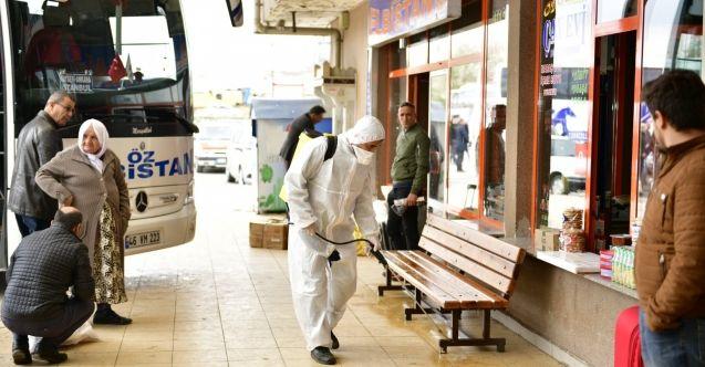Elbistan Belediyesi'nden dezenfektasyon ve ilaçlama çalışması
