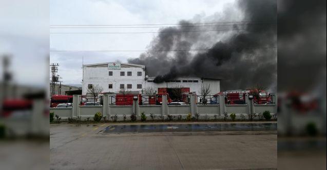 Kahramanmaraş'ta tekstil fabrikasında korkutan yangın