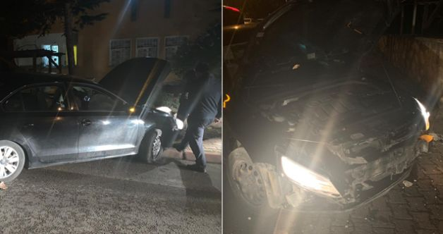 Elbistan'da direksiyon hakimiyetini kaybeden sürücü duvara çarptı