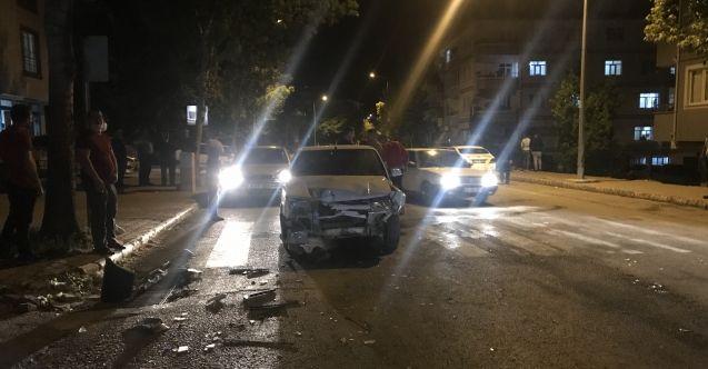 Elbistan'da meydana gelen trafik kazası ucuz atlatıldı