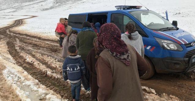 Nurhak'ta yaylada mahsur kalan vatandaşlar AFAD ve Jandarma tarafından kurtarıldı