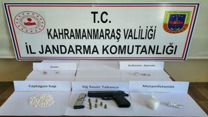 Jandarmadan uyuşturucu operasyonu: Metamfetamin, eroin, ruhsatsız tabanca ele geçirildi