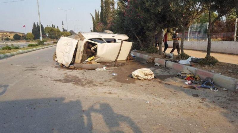 Ceyhan'da tarım işçileri kaza yaptı: 7 yaralı