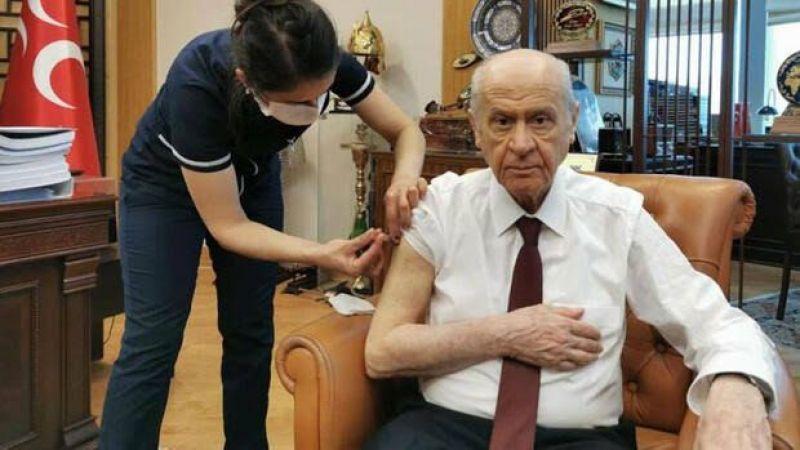 MHP Genel Başkanı Devlet Bahçeli aşı oldu