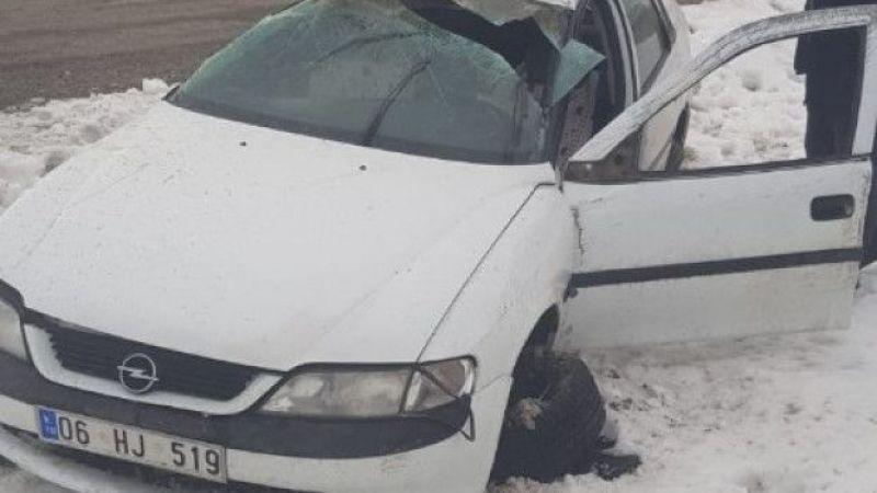 Afşin'de trafik kazası: 1 ölü, 2 yaralı