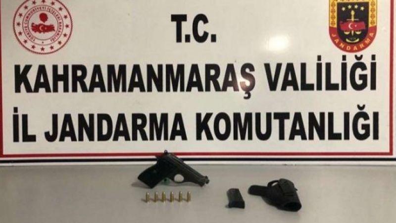 Elbistan'da minibüste yapılan aramada ruhsatsız tabanca ele geçirildi