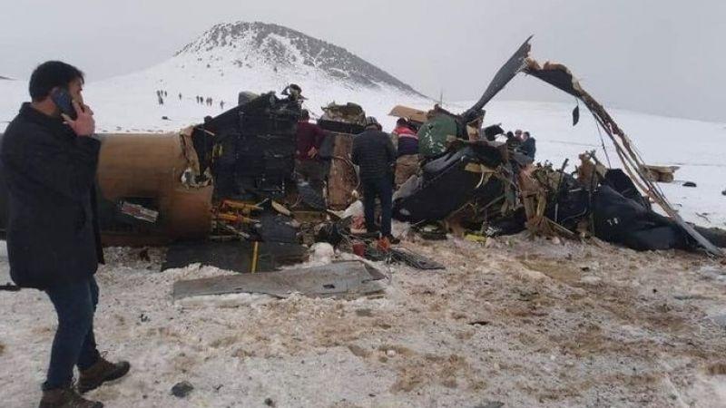 Bitlis-Tatvan kırsalında askeri helikopter düştü: 9 şehit 4 yaralı