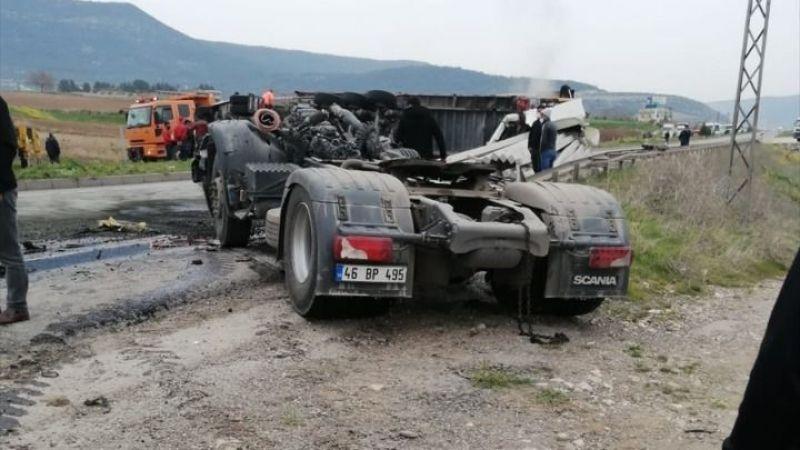 Kahramanmaraş'ta feci kaza:1 ölü, 1 yaralı